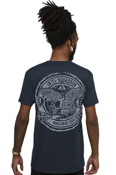 Intel Squad Georgetown Blue V Neck Tee - 1