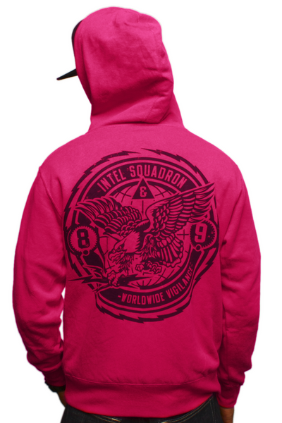 Intel Squad Magenta Zip Up Sweatshirt