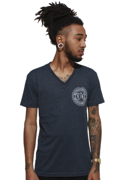 Intel Squad Georgetown Blue V Neck Tee - 2
