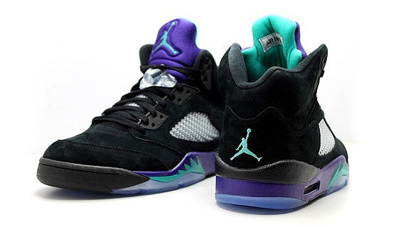 Black Grape Bud Jordan 5 T Shirt - 4
