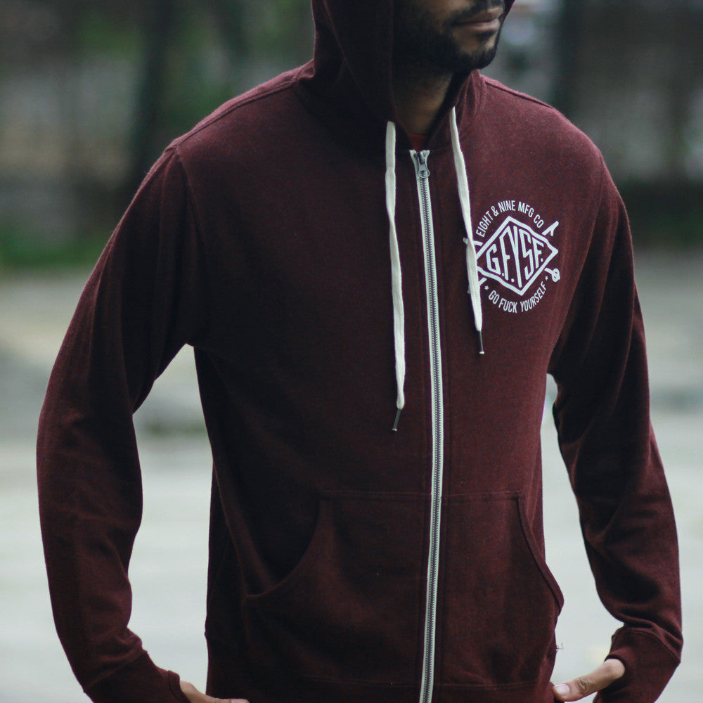 Definition zip up tech hoodie maroon maroon 6 hoodie 8 for Tailored fit shirts meaning