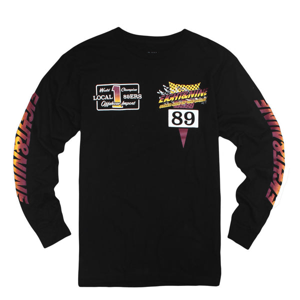 Thriller L/S Jersey Tee Bordeaux - 2