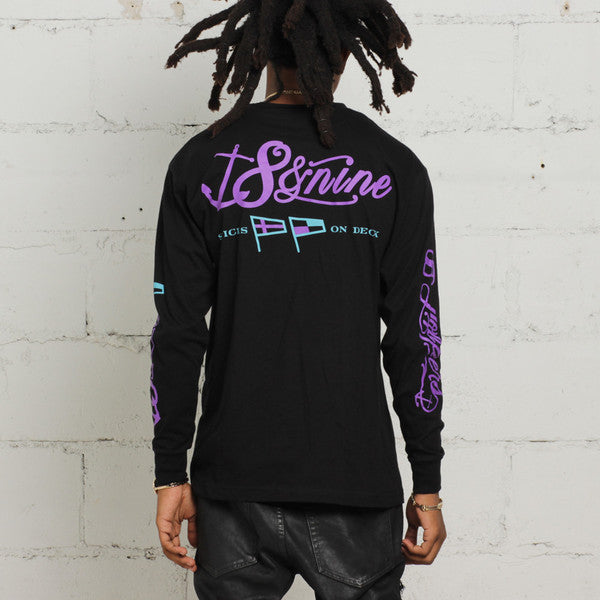 jordan aqua 8 long sleeve t shirt (3)