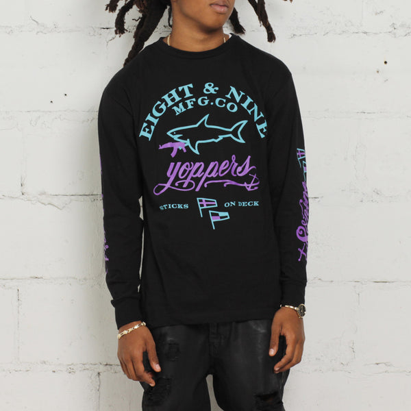 jordan aqua 8 long sleeve t shirt