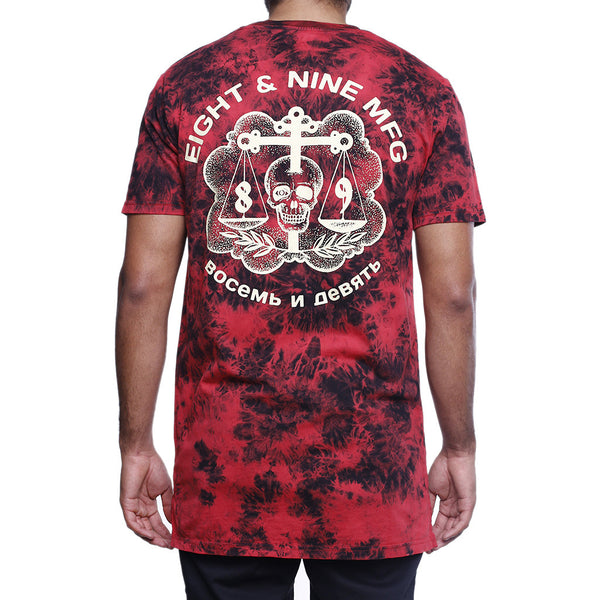 justice ss t shirt red back