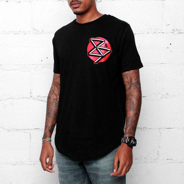 Curved Hem Kennedy's T Shirt Black