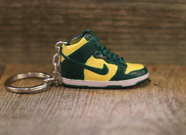 Nike SB Green Dunk High Sneaker Keychain