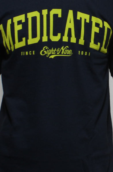 Medicated Navy T Shirt - 2