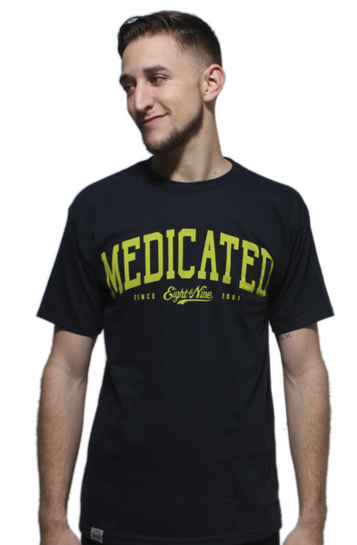 Medicated Navy T Shirt - 1