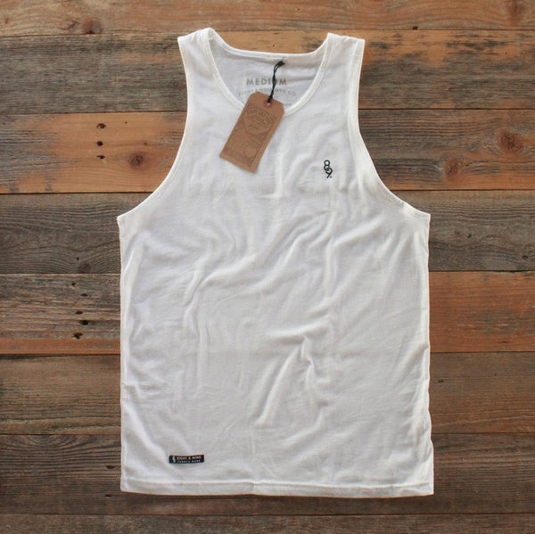 Mini Keys Premium Issue Tank Top White