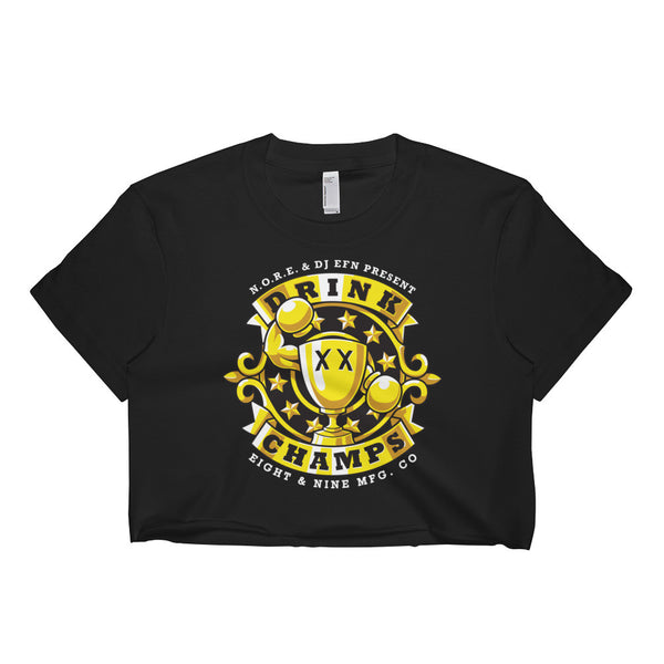 Drink Champs Short Sleeve Crop Top