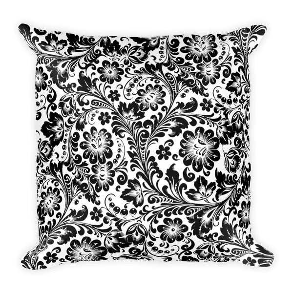 Khoklohoma White Square Pillow