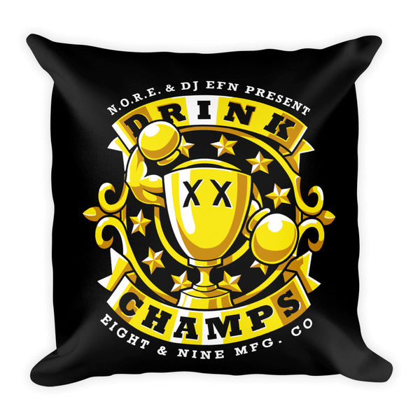 Drink Champs Square Pillow
