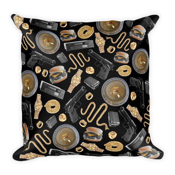 Robbery Square Pillow