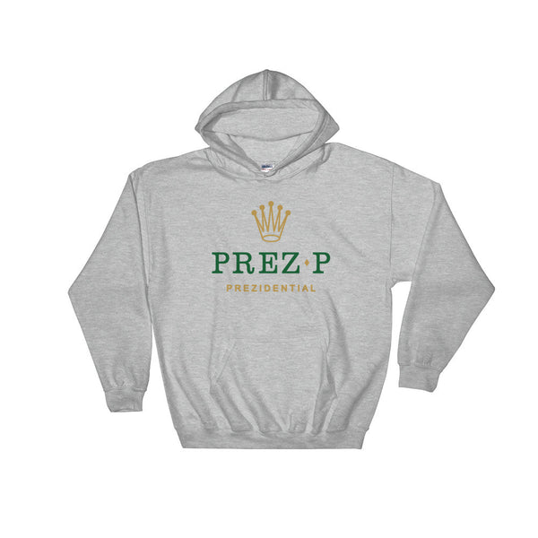 "Prez P ""Rolex"" Grey Hooded Sweatshirt"