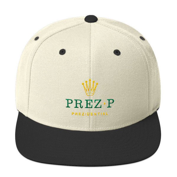 "Prez P ""Rolex"" Natural & Black Snapback"