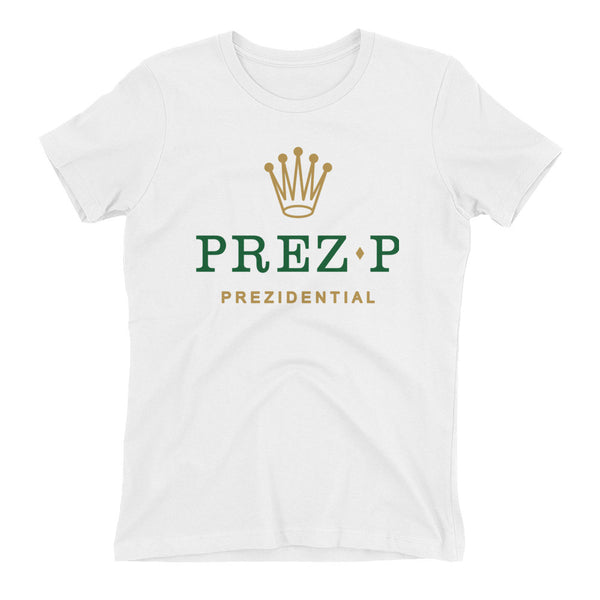 "Prez P ""Rolex"" White Women's T Shirt"