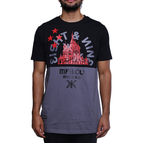 Motherland Split T Shirt Black Cement