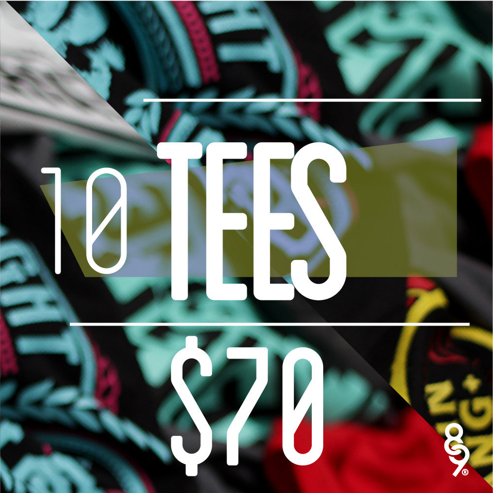 10 Assorted Tees For $70