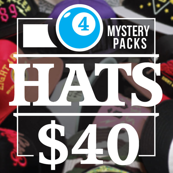 4 Assorted Hats For $40