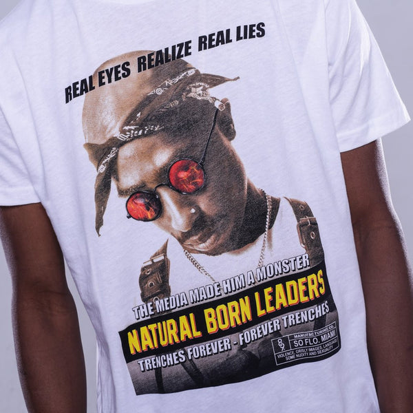 natural born shirt white 2 pac details