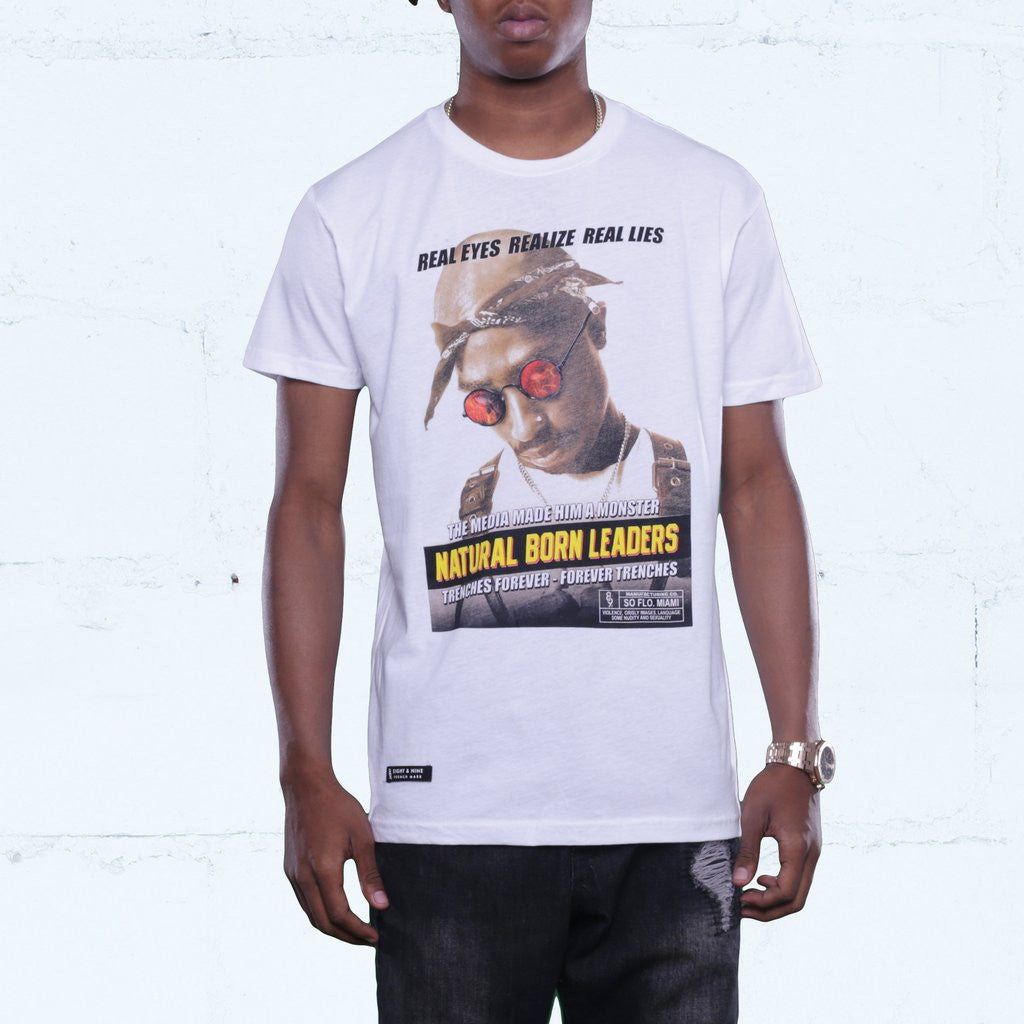 natural born shirt white 2 pac front