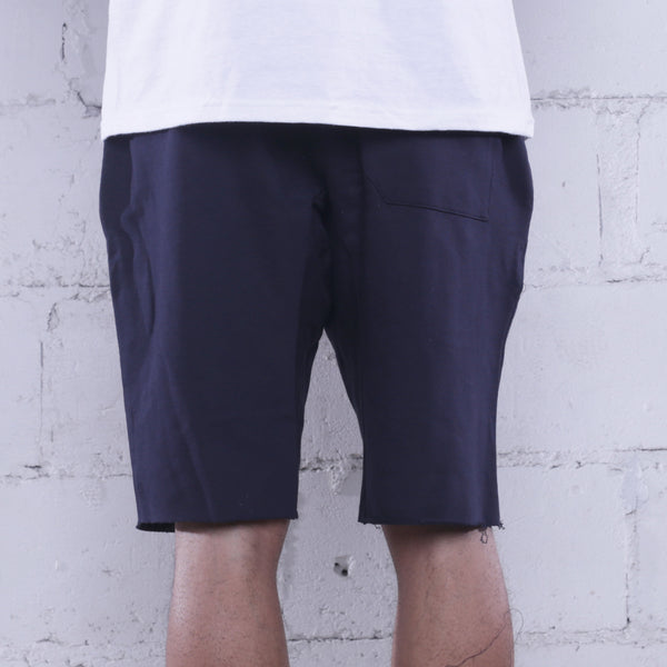 Triple Beam Premium Terry Shorts Navy