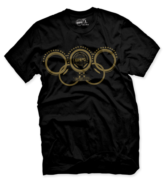 Gold Olympic Rings T Shirt - 2