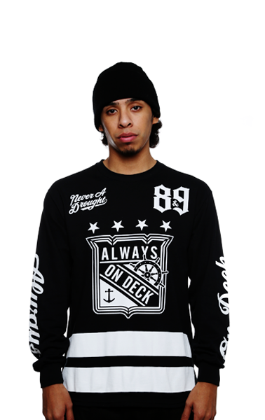 On Deck Jersey Tee Black L/S - 1