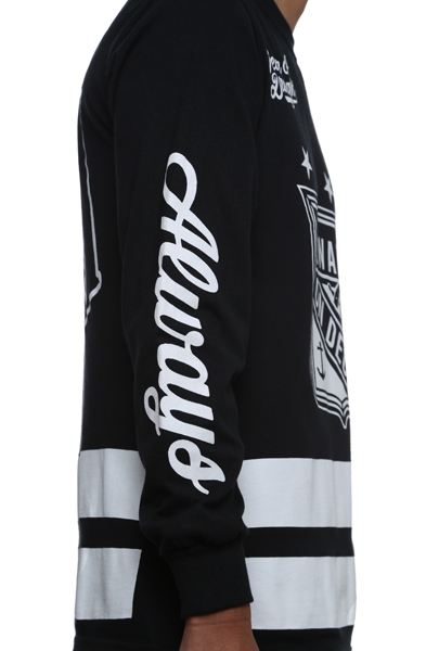 On Deck Jersey Tee Black L/S - 3