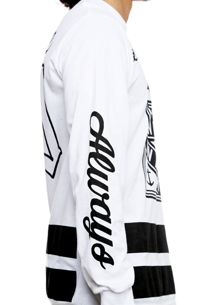 On Deck Jersey Tee White L/S - 3