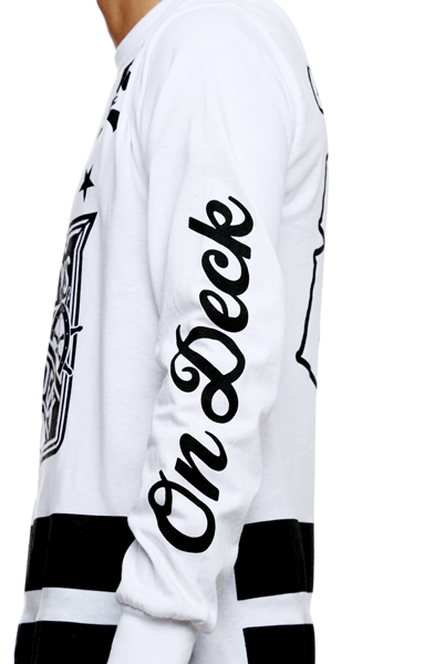 On Deck Jersey Tee White L/S - 4
