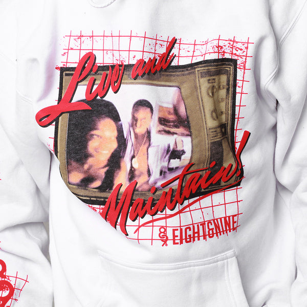 Livin Heavy Hooded Sweatshirt White