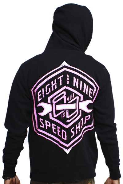Speed Shop Polarized Pink Zip Up Sweatshirt
