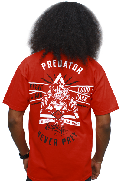 Predator Fire Red Loud Pack T Shirt - 1