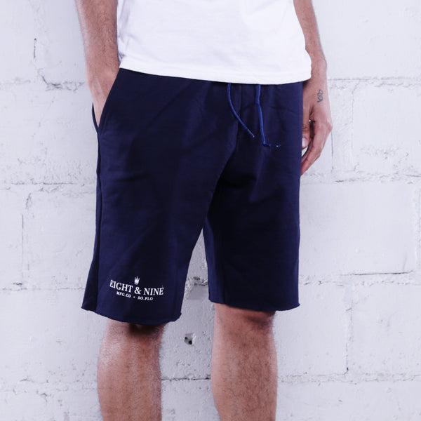 Rolee Premium Terry Shorts Navy w/ White