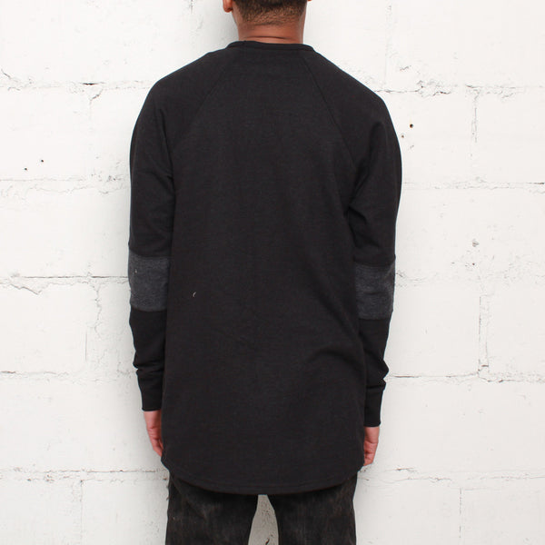 rudimental-paneled terry jersey black elongated shirt (3)