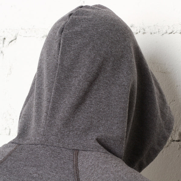 rudimental paneled terry hoodie charcoal elongated hoody (4)