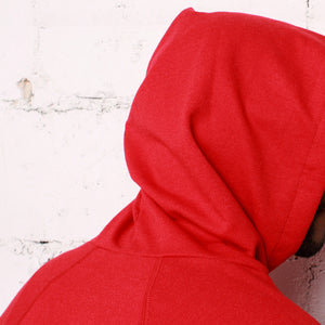 rudimental paneled terry hoodie red elongated hoody (4)
