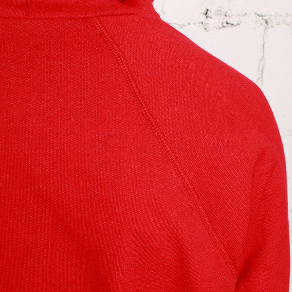 rudimental paneled terry hoodie red elongated hoody (5)