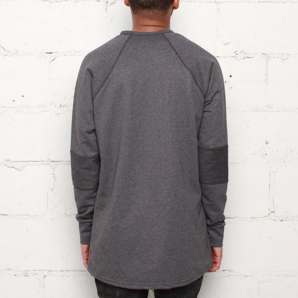 rudimental paneled terry jersey charcoal elongated shirt (2)