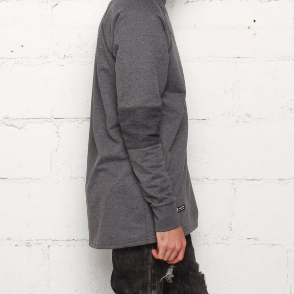 rudimental paneled terry jersey charcoal elongated shirt (3)