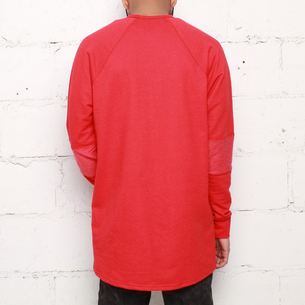 rudimental paneled terry jersey red elongated shirt (2)