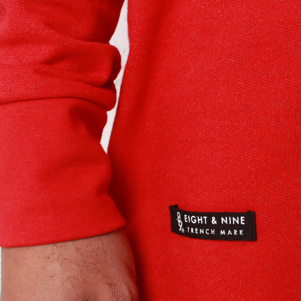 rudimental paneled terry jersey red elongated shirt (3)