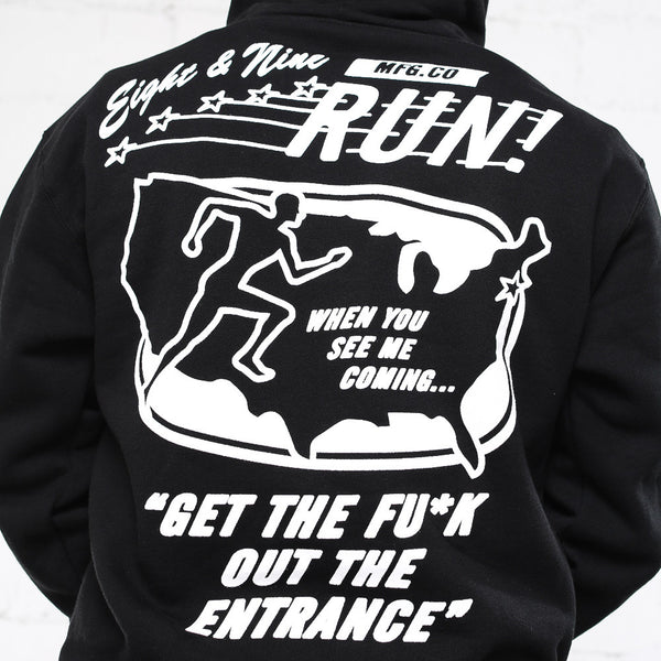 run hooded sweatshirt black hoodie (5)