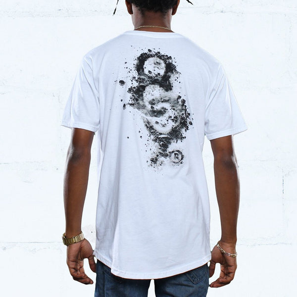 snare keys curved hem t shirt white back  jordan yin yang 1