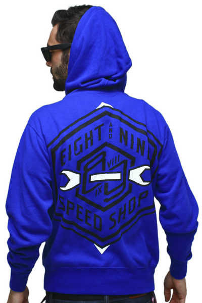 Speed Shop Royal Zip Up Sweatshirt