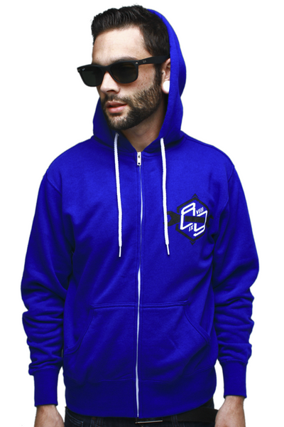 Speed Shop Royal Zip Up Sweatshirt - 2