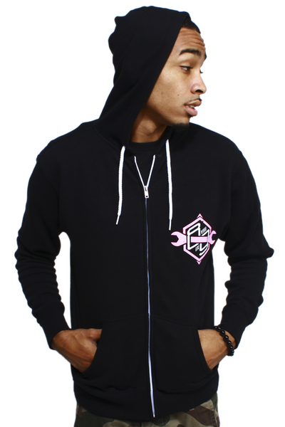 Speed Shop Polarized Pink Zip Up Sweatshirt - 2