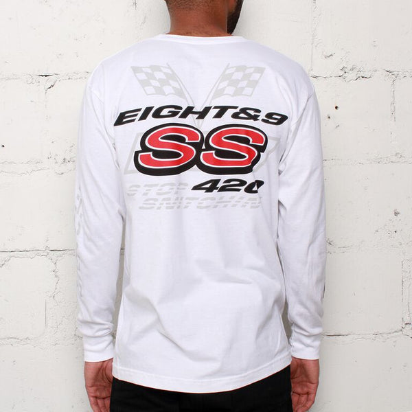 stop snitchin long sleeve white (2)